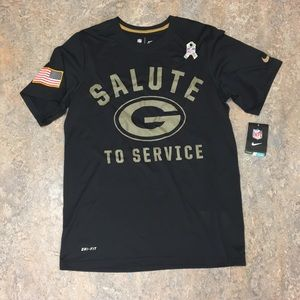 Green Bay Packers Nike Salute Dri Fit Shirt Small